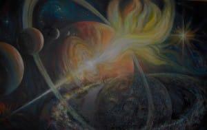 Space3 160 x 120 cm, Acryl auf Leinwand